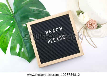 Letter Board and Summer Accessories  #1073754812