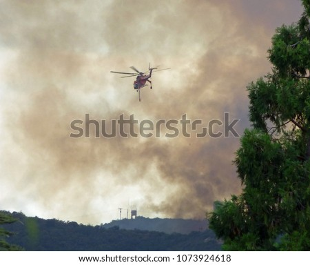 Wildfire water helicopter #1073924618