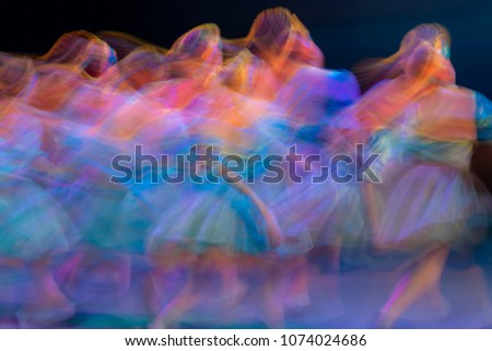 Abstract movement in the dance. Children ensemble. Moscow. Russia Royalty-Free Stock Photo #1074024686
