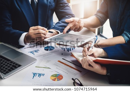 Business Finance, accounting, contract, advisor investment consulting marketing plan for the company with using tablet and computer technology in analysis. #1074715964