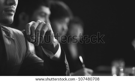 business team in meeting Royalty-Free Stock Photo #107480708
