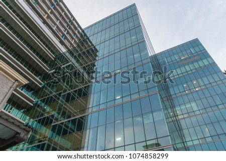Contemporary Architecture Office Building In The City, Perspective Concept. #1074858299