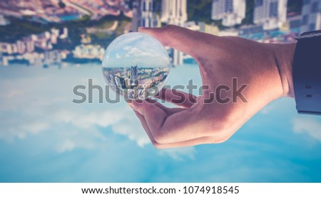 City Scape CrystalBall #1074918545