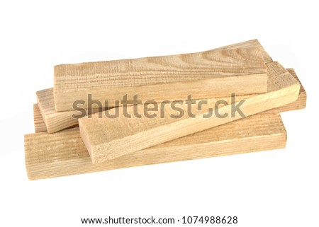 wooden boards on a white background #1074988628