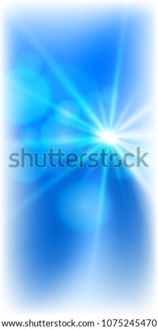 Blur blue gradient background of bright glow perspective with lighting circles with space place for your text. Graphic image template. Abstract Illustration for your business brochure #1075245470
