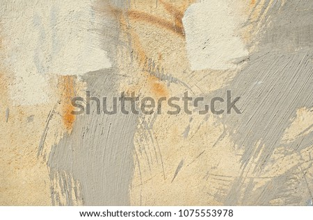 Abstract painting wall yellow and gray.Cements backdrop abstract texture background beautiful for wallpaper design and decoration. #1075553978