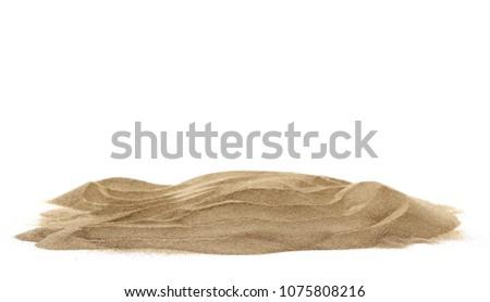 Pile desert sand dune isolated on white background #1075808216