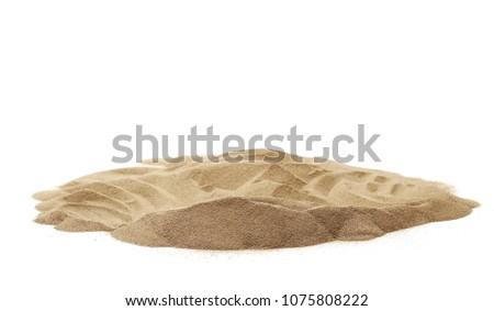 Pile desert sand dune isolated on white background #1075808222