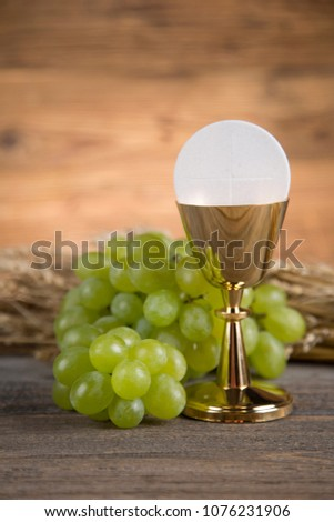 Eucharist, sacrament of communion background #1076231906