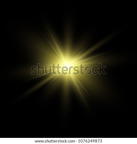 light flare special effect.vector illustration #1076249873