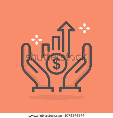 Growth vector icon Royalty-Free Stock Photo #1076396594