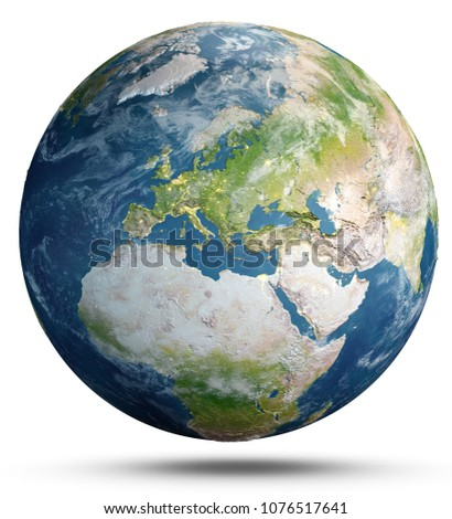 Planet Earth. Elements of this image furnished by NASA. 3d rendering #1076517641