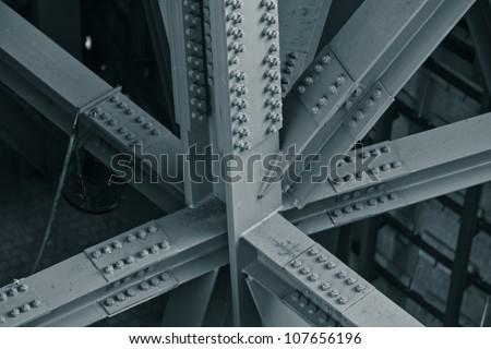 Bridge frame closeup. Horizontal toned image Royalty-Free Stock Photo #107656196