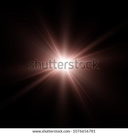 light flare special effect.vector illustration #1076656781