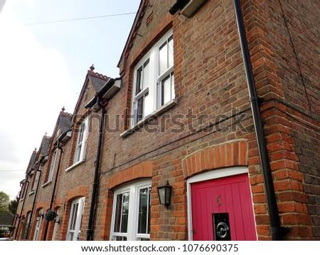 Chorleywood, Hertfordshire, England, UK - April 25th 2018: Ellwood Terrace, Chorleywood Bottom #1076690375