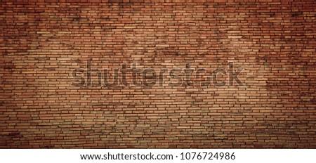 red brick wall texture grunge background #1076724986