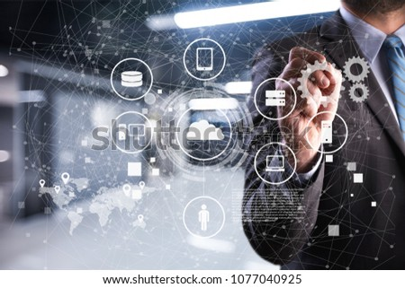 Internet of technology concept #1077040925