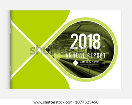 Cover design for annual report business catalog company profile brochure magazine flyer booklet poster banner. A4 landscape template element cover vector EPS-10 sample image with Gradient Mesh. #1077323450