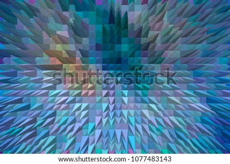 abstract 3d extrude pyramid modern illustrated background #1077483143
