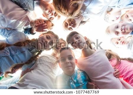 Friendship of schoolchildren  #1077487769