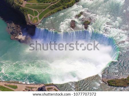 niagara falls arial view