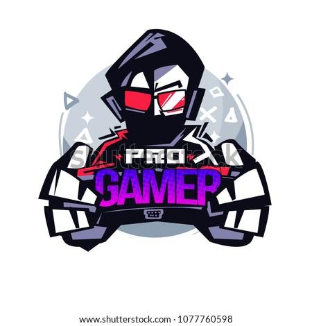 Pro Gamer. Gamer logo - vector illustration