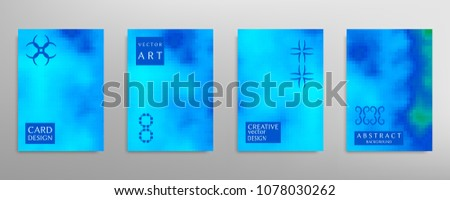 Abstract colorful art, cover template with geometric elements. Poster, flyer with colored gradient, neon glow vector background size a4. Bright colors, artistic design for card, invitation, brochure #1078030262