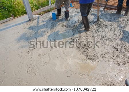 Builder, fine cement floor  #1078042922