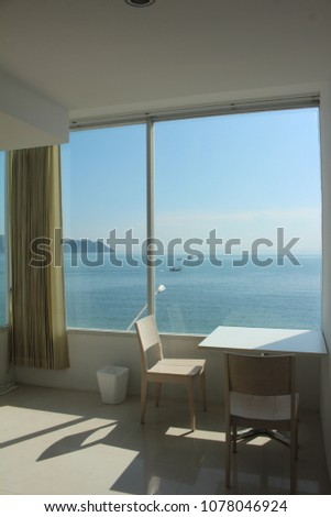 sea view hotel room #1078046924