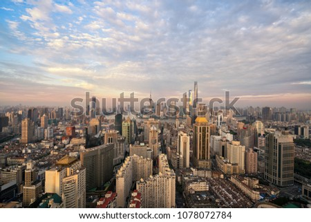Panoramic view of Shanghai #1078072784