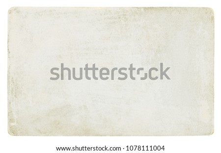 Vintage paper background isolated - (clipping path included) #1078111004