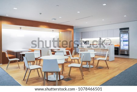 Dining center in office building Royalty-Free Stock Photo #1078466501