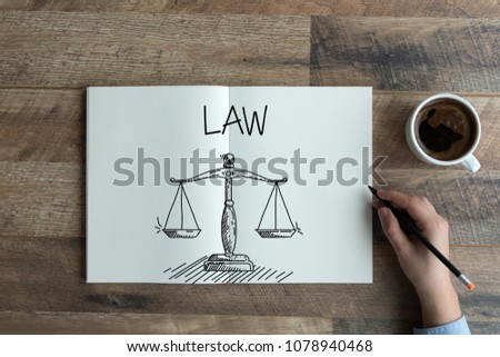LAW AND WORKPLACE CONCEPT #1078940468
