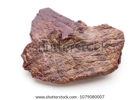 Grilled bio beef steaks with spices isolated on white background. #1079080007