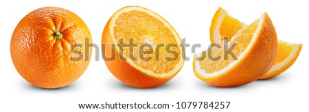 Ripe orange isolated on white background Clipping Path #1079784257