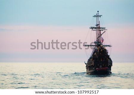 old ship sunset 1 #107992517