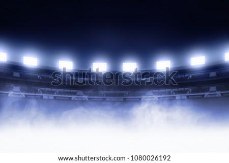 Soccer stadium field Royalty-Free Stock Photo #1080026192