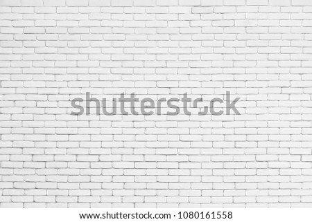 Abstract background from white bricks pattern on wall. Architecture and construction background. #1080161558