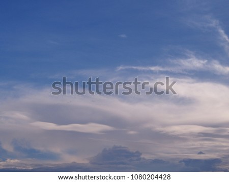 Clouds in the sky. #1080204428