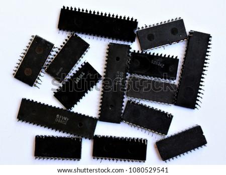 several integrated circuits #1080529541