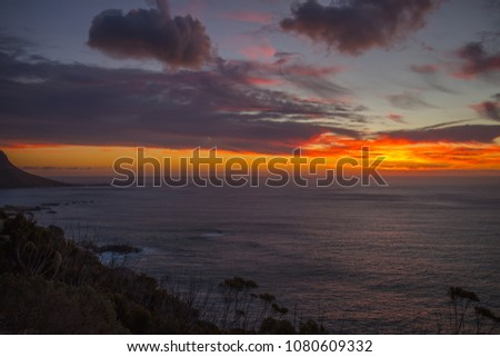 Sunset at the ocean #1080609332