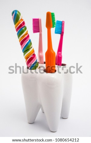 candy and dental care #1080654212