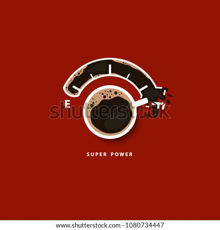 coffee time isolated and vector and illustraion
