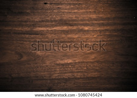 Close up soft wood table floor with natural pattern texture. Empty template  wood board can be used as background for display or montage your top view products. #1080745424