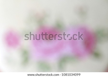 Pink rose, Abstract blurred background #1081034099