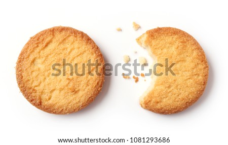 butter cookies isolated on white background #1081293686