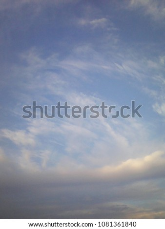 blue sky and white cloud smooth #1081361840