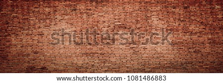 Red old brick wall texture. #1081486883