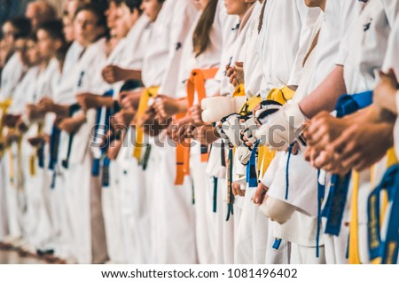competition karate fighters Royalty-Free Stock Photo #1081496402