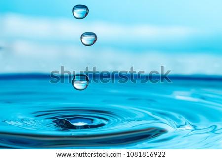 water drop splash #1081816922